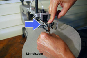 how to change a Ryobi Scroll Saw blade
