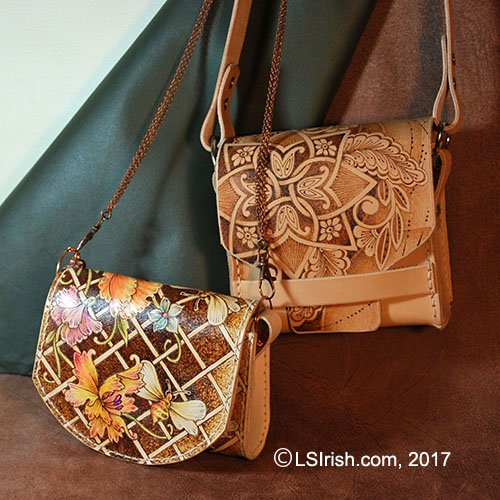 Leather Purse Pyrography Samples