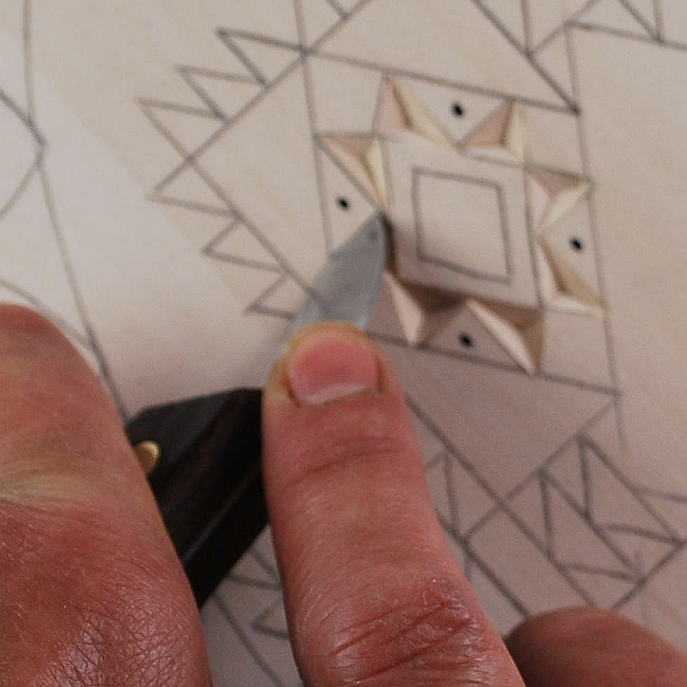 Basic techniques to wood chip carving by l. s. irish lsirish.com