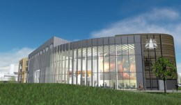 The proposed view from outside the new Isaac Newton Building. Photo: University of Lincoln
