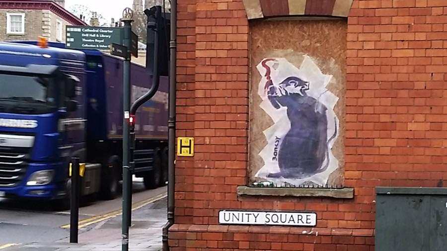 Broadgate Banksy - Could the famous street artist have left his mark on Lincoln?