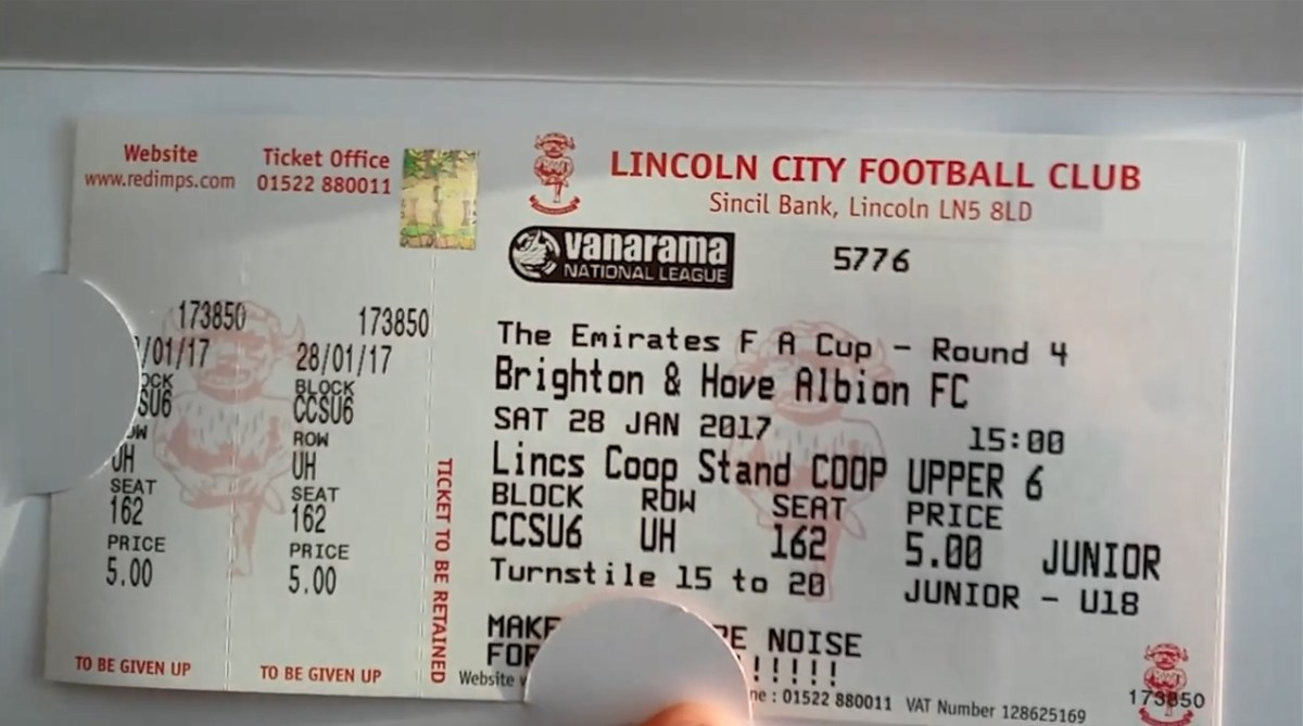 Thousands of fans queue for tickets outside Sincil Bank for Lincoln City's FA Cup fourth round tie