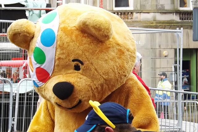 Children in Need icon: Pudsey Bear. Photo: Mark Harkin.