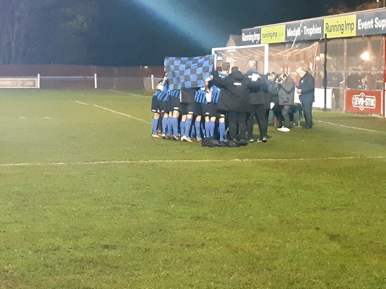The Clee Town players celebrate