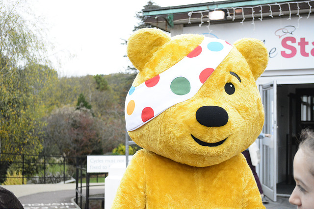 The icon of Children in Need: Pudsey Bear. Source: Southampton RAG