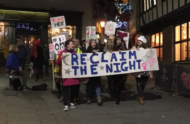 Photo: Whitney Jones. Lincolnshire Rape Crisis held a Reclaim the night March on November 24 2018.