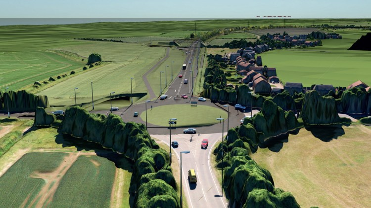 Lincoln Easter Bypass Plan. Courtesy: Promote Lincolnshire
