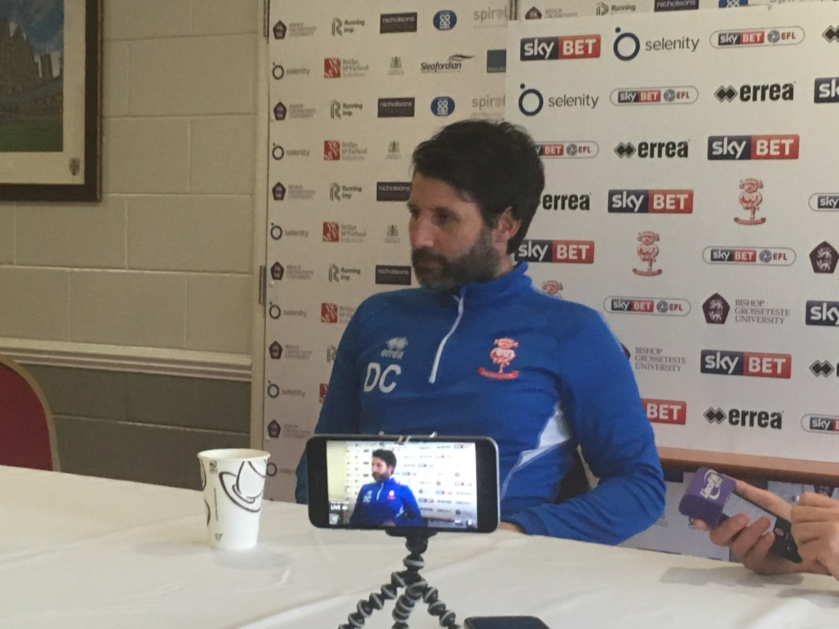 Lincoln City vs Stevenage - Danny Cowley pre-match press conference