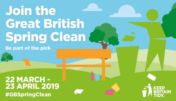 Keep Britain Tidy's national 'Spring Clean' campaign runs from 22 March to 23 April. Photo: Keep Britain Tidy