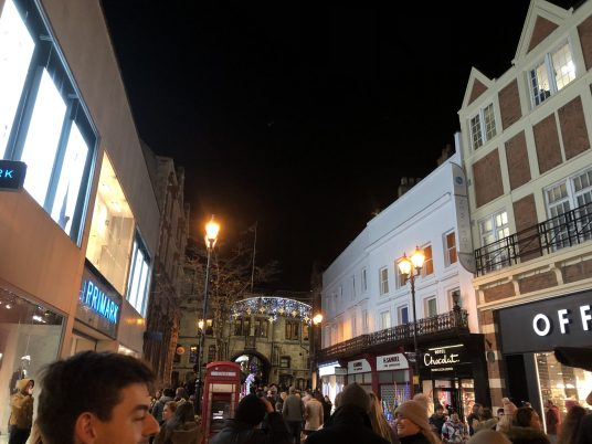 The High Steet was gleaming after this years Christmas lights were switched on Friday