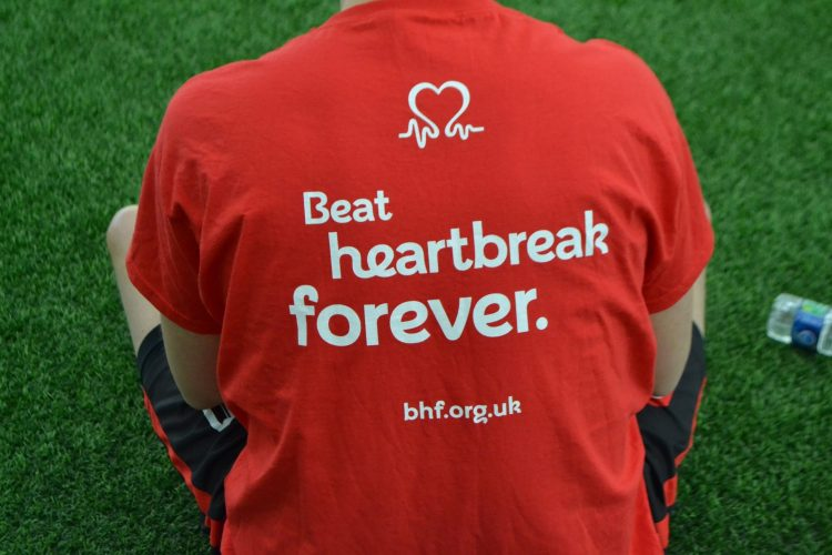'Beat Heartbreak Forever' , The Heart Foundation slogan seen on the football teams training tops: by Dilbag Dhaliwal