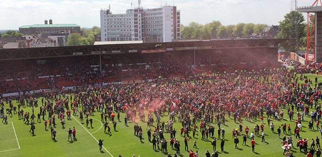 Fans at the City Ground in Nottingham (Photo: Charlie Liptrott)