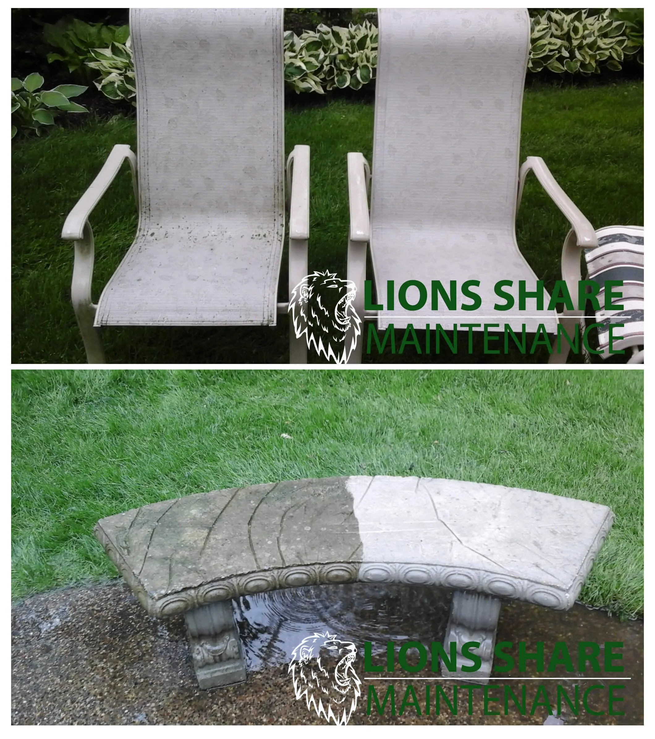 pressure washing lions share