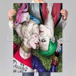 Harley Quinn And Joker Poster Print Art Wall Decor Replacement