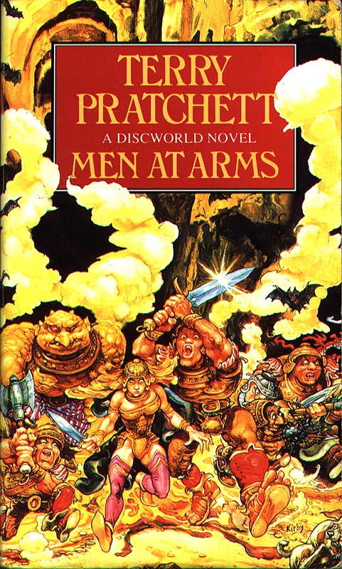 Book cover of Men at Arms by Terry Pratchett
