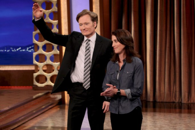 Erin Foley and Conan O'Brien