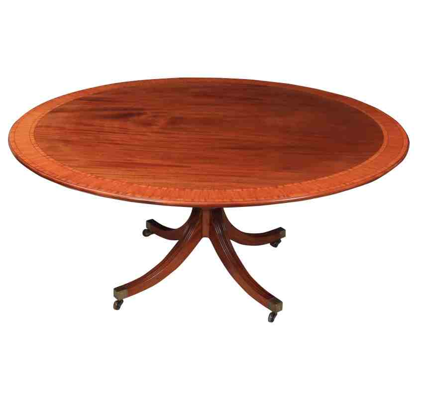 Large Round 8 Seater Mahogany Dining Table By William Tillman