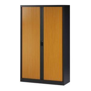 Roldeurkast 198 cm hoog houtprint