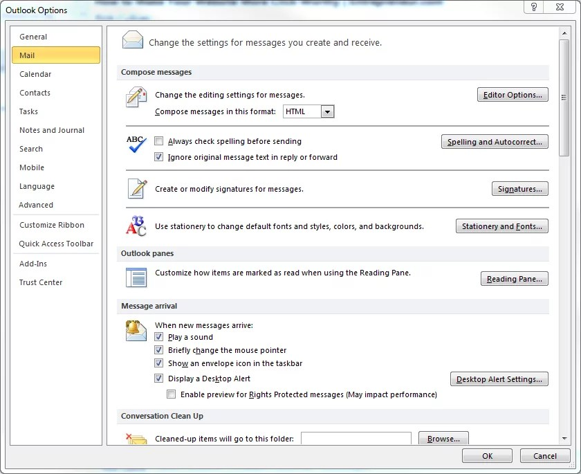 How to change automatic signature in outlook