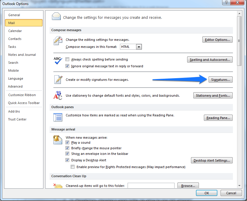 How Do I Change My Email Signature in Outlook 2013?