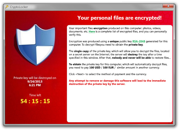 cryptolocker ransomware