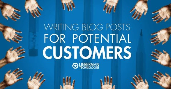 how to write a blog post for your potential customers