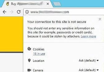 Google security non-SSL dropdown