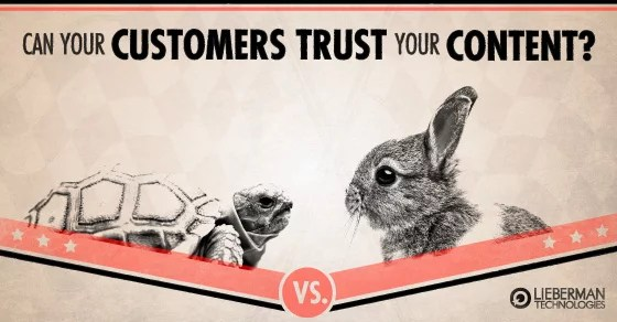build customer trust through your website content