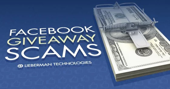 facebook giveaway scams