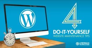 4 DIY websites maintenance tips