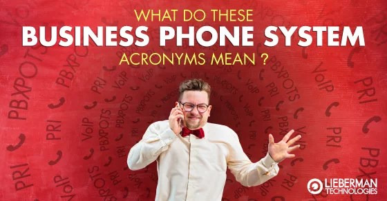 business phone system acronyms definitions