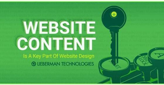 website content is a big part of web design