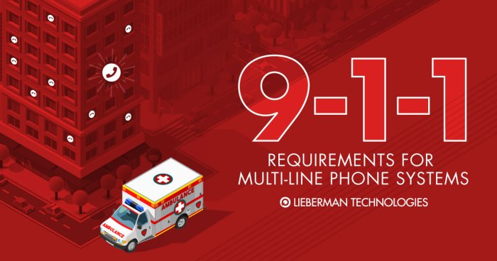 911 requirements for multiline phone systems