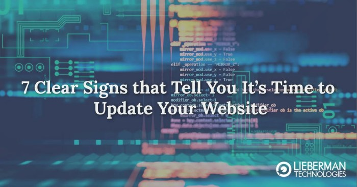 7 clear signs you need to update your website