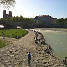 Isar Blick von der Corneliusbrücke