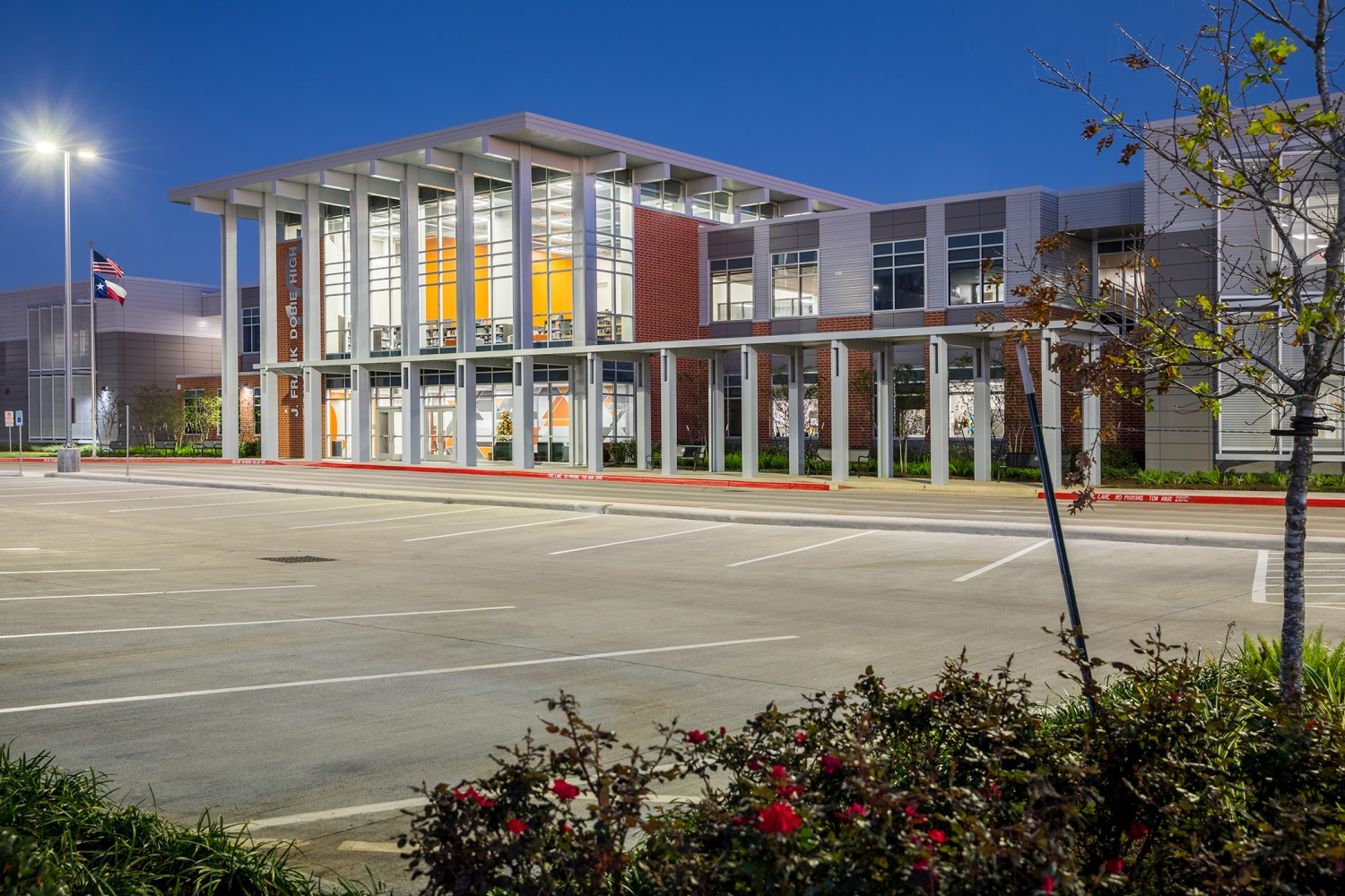 Dobie Ninth Grade Center - Front entrance