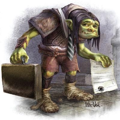 Ilustración de un troll de las patentes