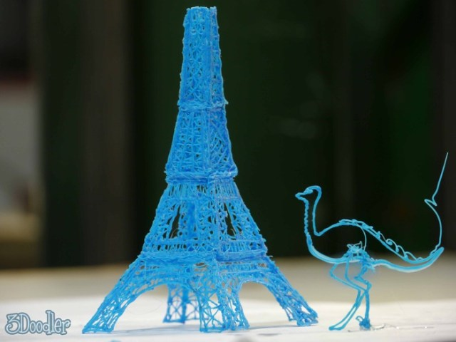 Varios objetos creados con 3D doodler