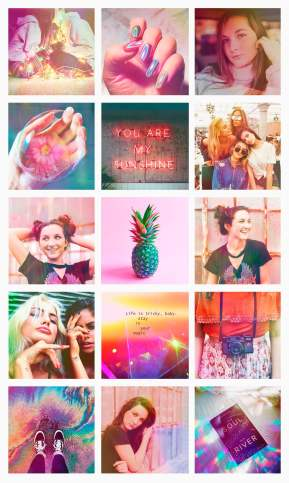 Instagram-feed-holographic-rainbow-pink-aesthetic-colors-girlie-cool-teen
