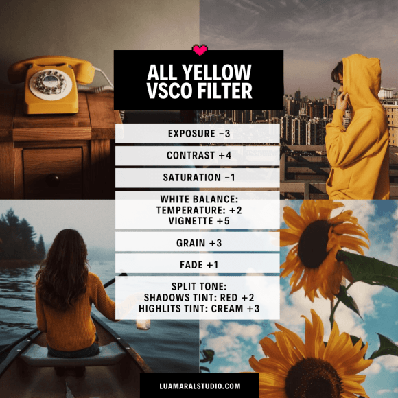 VSCO Filter Yellow instagram feed aesthetic design style amarelo