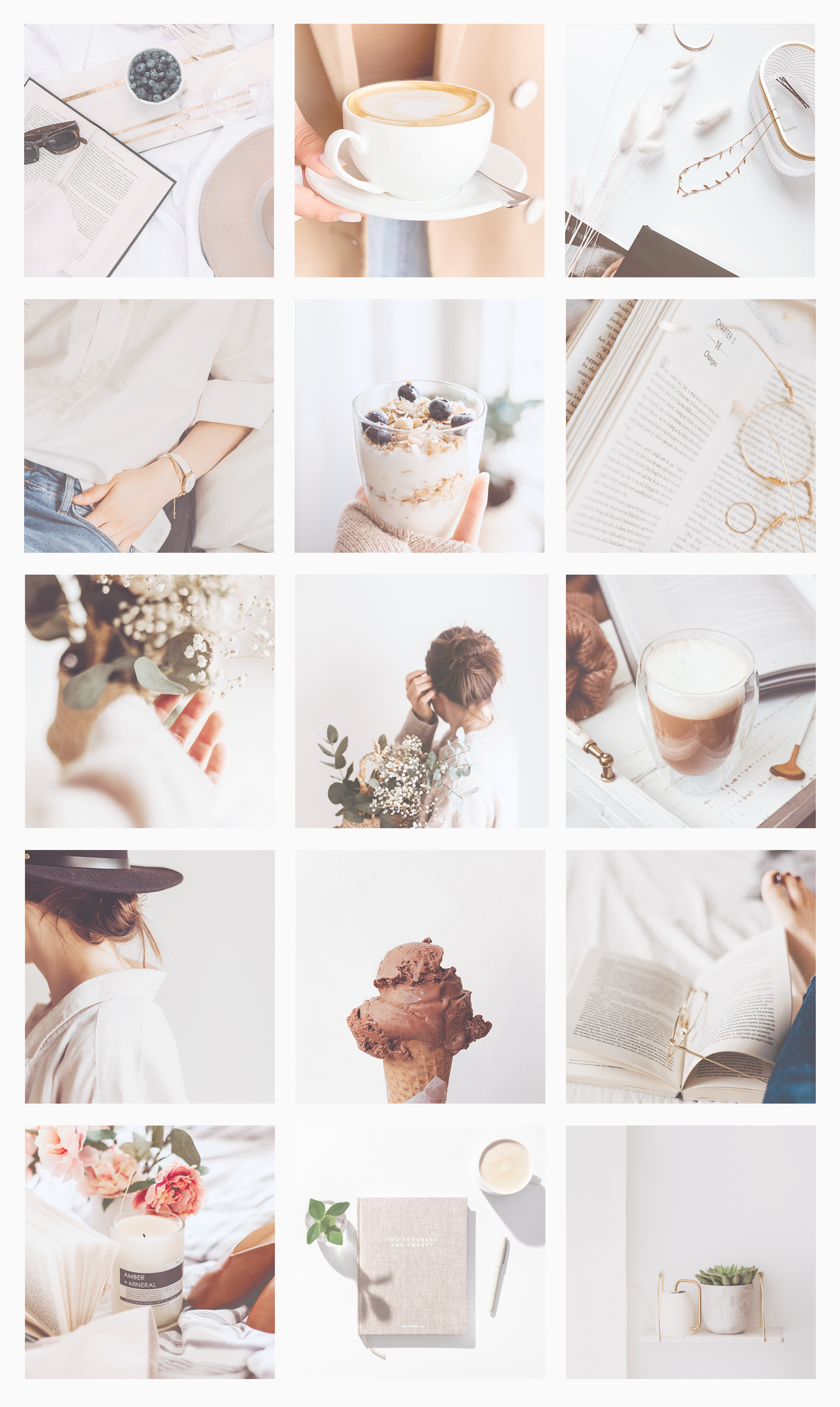 neutral instagram feed theme aesthetic