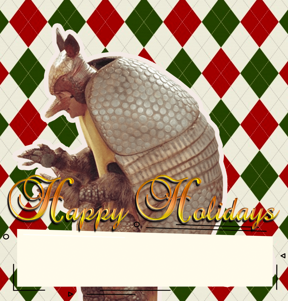 holiday armadillo f.r.i.e.n.d.s friends ross geller christmas episode natal