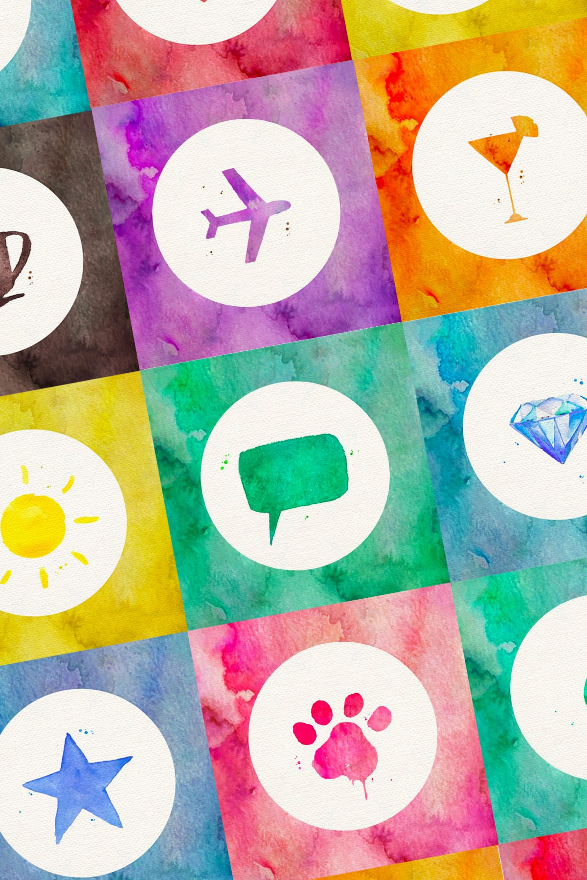 watercolor-icons