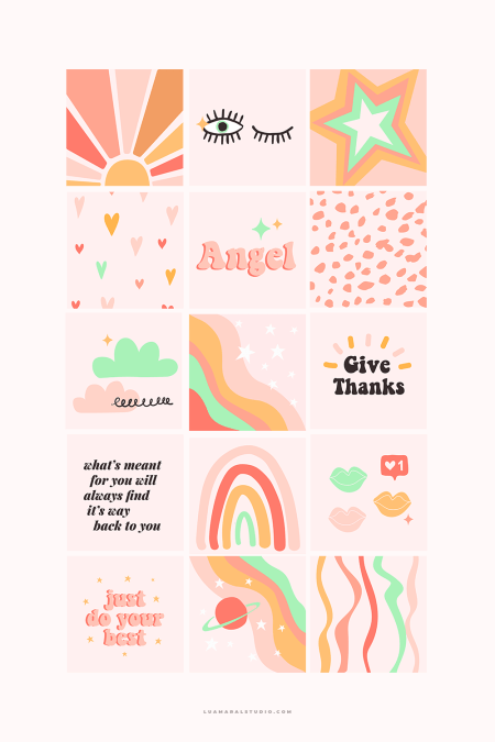 Instagram-posts-breathers-rainbow-colors-intuition-theme