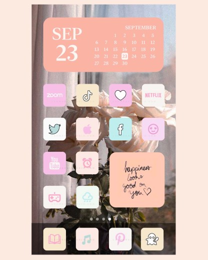 home screen pastel aesthetic app icons