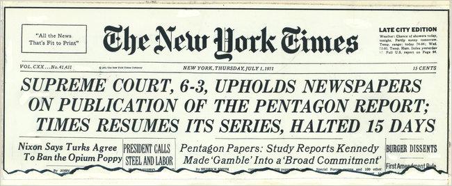 New York Times loan báo kết quả phiên tòa. Ảnh: nyt.com.
