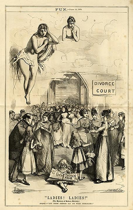 Nhờ sự tích cực tranh đấu, quyền ly dị của nữ giới trở thành một chủ đề chính trị nóng bỏng thởi Victoria (Nguồn ảnh: indiana.edu)