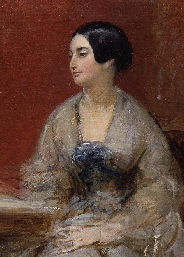 Caroline Norton (Tranh của Frank Stone - Nguồn ảnh: Wikimedia)