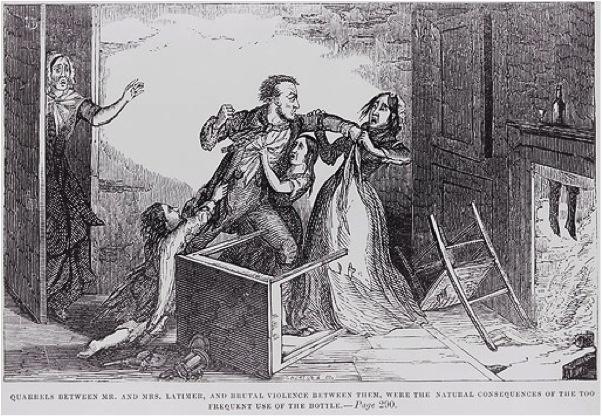 Bạo hành gia đình thời Victoria (Nguồn ảnh: origins.osu.edu)