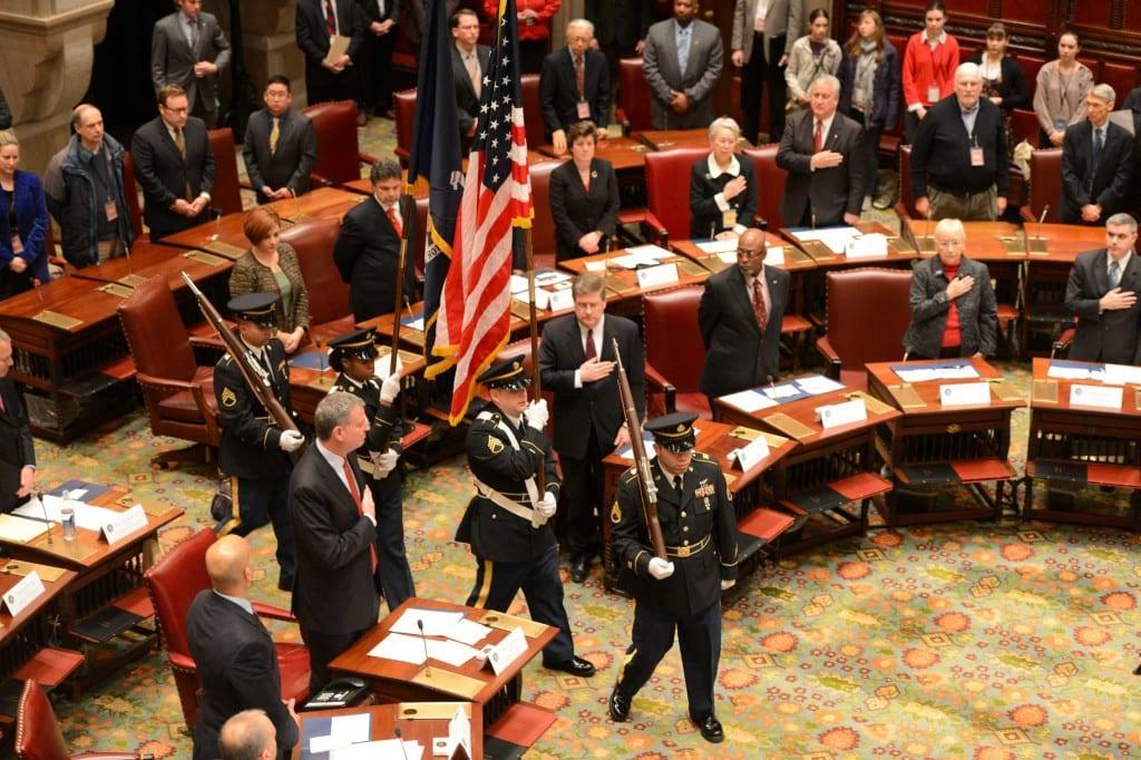 Hội nghị Đại cử tri ngày 18-11-2012, bầu ra Tổng thống Obama. Ảnh: Time Union.
